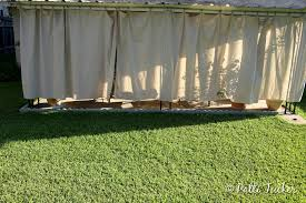 Inexpensive Backyard Privacy Ideas Diy Outdoor Patio Drop Cloth Curtains