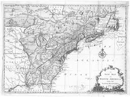 The Thirteen Colonies Map Hargrett Rare Library Map Collection Colonial America Thirteen