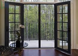 Interior Swinging Doors Grilles Design Hinged Aluminium Doors Exterior Interior