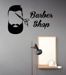 barber shop wall decals scissors men hair stylist beard barber shop wall decals scissors men hair stylist beard hairdressing salon design interior art vinyl decal