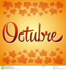 thanksgiving spanish octubre october spanish vector sign stock vector image 44883392