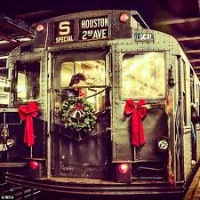 new york city subway to celebrate christmas 2015 with vintage