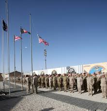 9 11 Remembrance Flag Marines Hold 9 11 Remembrance Ceremony In Afghanistan Huffpost