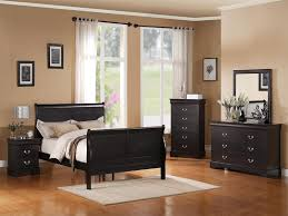standard furniture lewiston panel bedroom set in black