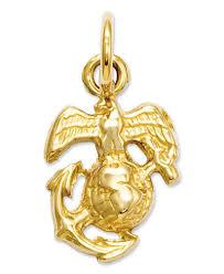 marine jewelry 14k gold charm u s marine corps charm jewelry watches macy s