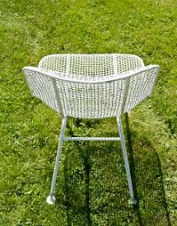 white mesh chair metal patio chairs mommyessence com