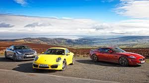 nissan gtr under 40k nissan gt r vs porsche 911 vs jaguar xkr s top gear