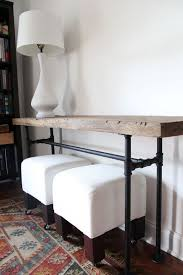 Narrow Sofa Table Diy Projects With Pipe Black Pipe Industrial Table And Sofa Tables