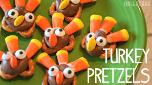 how to make thanksgiving turkey pretzels bake with hallecake