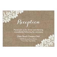 Reception Cards Shabby Chic Wedding Rsvp Invitations Rustic Lace U0026 Burlap Wedding
