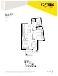 600sft Floor Plan by Fortune At Fort York Lake Shore U0026 Bathurst Toronto