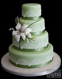 edible lace colored wedding cake with edible lace myria