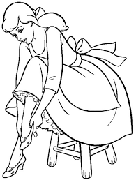charming cinderella coloring pages for kids cartoon coloring