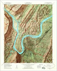 map of chattanooga tn image of the shaded relief version of the 1958 chattanooga
