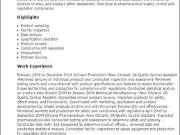 quality control officer sample resume quality resume examples