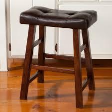 tufted leather bar stool home design ideas