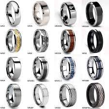 types of mens wedding bands ring sizer chart inches tungsten wedding ring mens anniversary