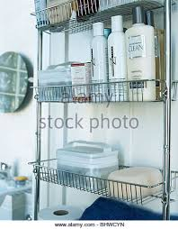 Stainless Steel Bathroom Shelving Bathroom Shelving Toiletries Metallics Stock Photos Bathroom