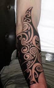 black tribal forearm tattoos for men toycyte