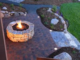 round diy fire pit ideas for backyard with stone floor tiles also