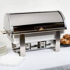 roll top deluxe full size 8 qt stainless steel buffet chafer