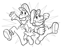 mario and luigi coloring pages coloringsuite com