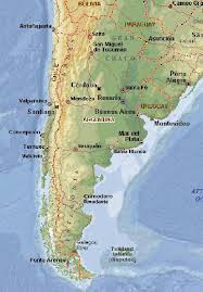 physical map of argentina argentina physical map south america