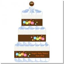 3 tier baby blocks baby shower diaper cake baby blocks baby