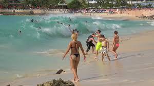 St Maarten Map Maho Beach St Maarten Big Waves And Planes Dec 10 2014 4k