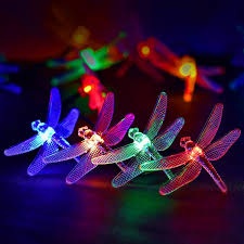 Dragonfly String Lights by Solar Fairy String Lights Led Dragonfly Multi Color 20 Leds