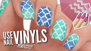 use nail vinyls perfectly on your nails youtube
