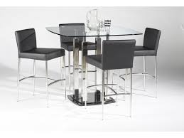 square glass pub table chintaly imports cilla 5 piece square pub table and chair set
