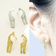 giraffe earrings is giraffe necklace and earrings set of 3 vistashops