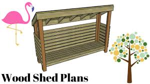 Plans To Build A Firewood Shed by How To Build A Wood Shed Youtube