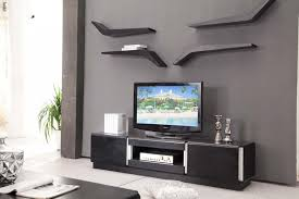 Tv Wall Cabinet This Creative Wall Treatment Helps The Flat Panel - Home tv stand furniture designs