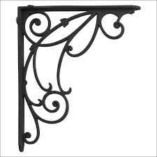furniture magnificent wrought iron corbels and brackets wall