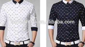 tshirts design 2015 new design fashion korean slim fit printed casual shirts