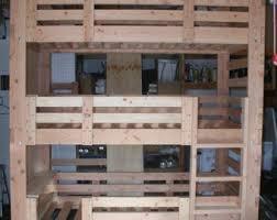 Heavy Duty Solid Wood Custom Made Triple Bunk Bed Twin Size - Heavy duty bunk beds