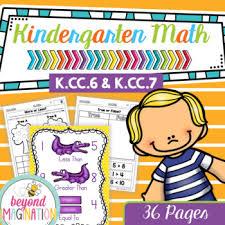 kindergarten common core math no prep worksheets k cc 6 u0026 k cc 7