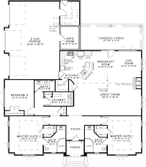 Master Suites Floor Plans Home Plan Two Master Suites For Multigenerational Harmony