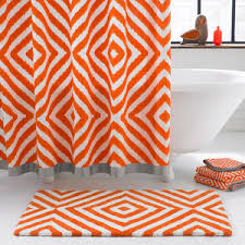 Shower Curtains Orange Orange And Gray Shower Curtain Curtains Ideas