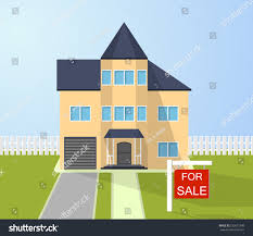 Selling House by House Sale Sign Selling Home Cottage Stock Vector 530671699