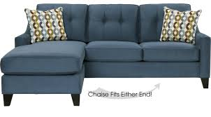indigo leather sofa 799 00 cindy crawford madison place indigo 2pc sectional