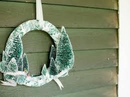 diy bottle brush tree wreath for hgtv