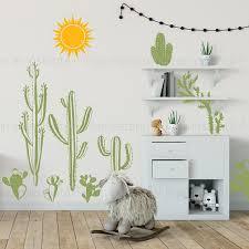Nursery Wall Decoration Woodland Cactus Wall Decor Cactus Wall Decal Desert Wall Decal