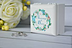 jewelry box favors buy wedding jewelry box for rings wreath peonies and hydrangeas