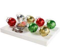 qvc cheryl s 8 jingle bell ornaments with treats tvshoppingqueens