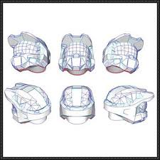 3 mark vi smooth helmet papercraft free template download