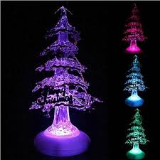 Color Changing Christmas Trees - crystal christmas tree style usb powered color changing led