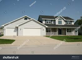 twostory home porch large three stall stock photo 5689378